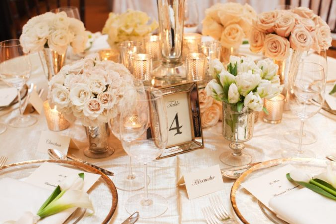 blush and gold themed wedding