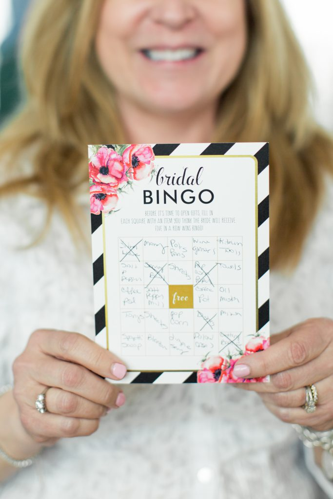 bridal shower, bridal shower ideas, gold themed bridal shower, gold place setting, bridal decor, wedding centerpiece, wedding decorations, spring wedding, Raleigh NC, the glass box Raleigh, wedding cake, bridal shower games, wedding party, bridesmaids, maid of honor