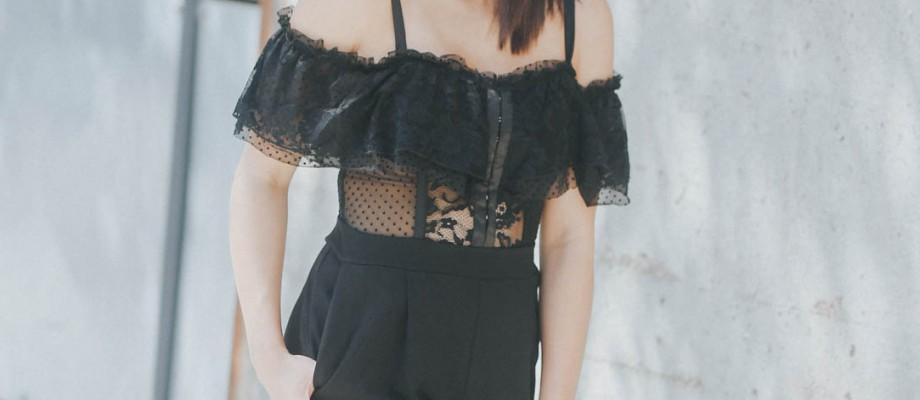 Lace Off The Shoulder Jumpsuit