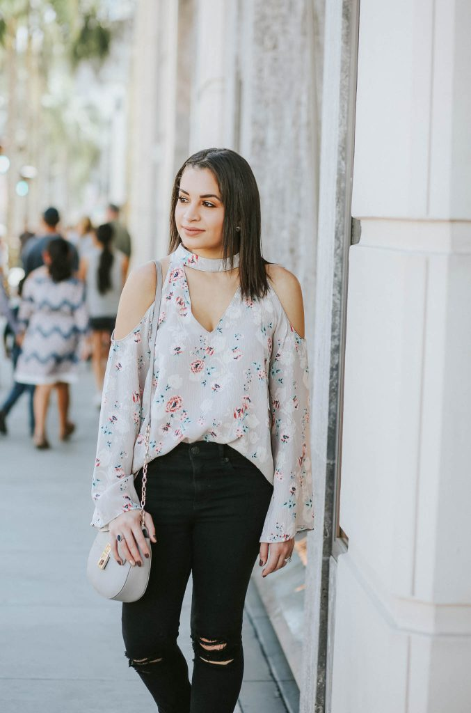 floral choker top