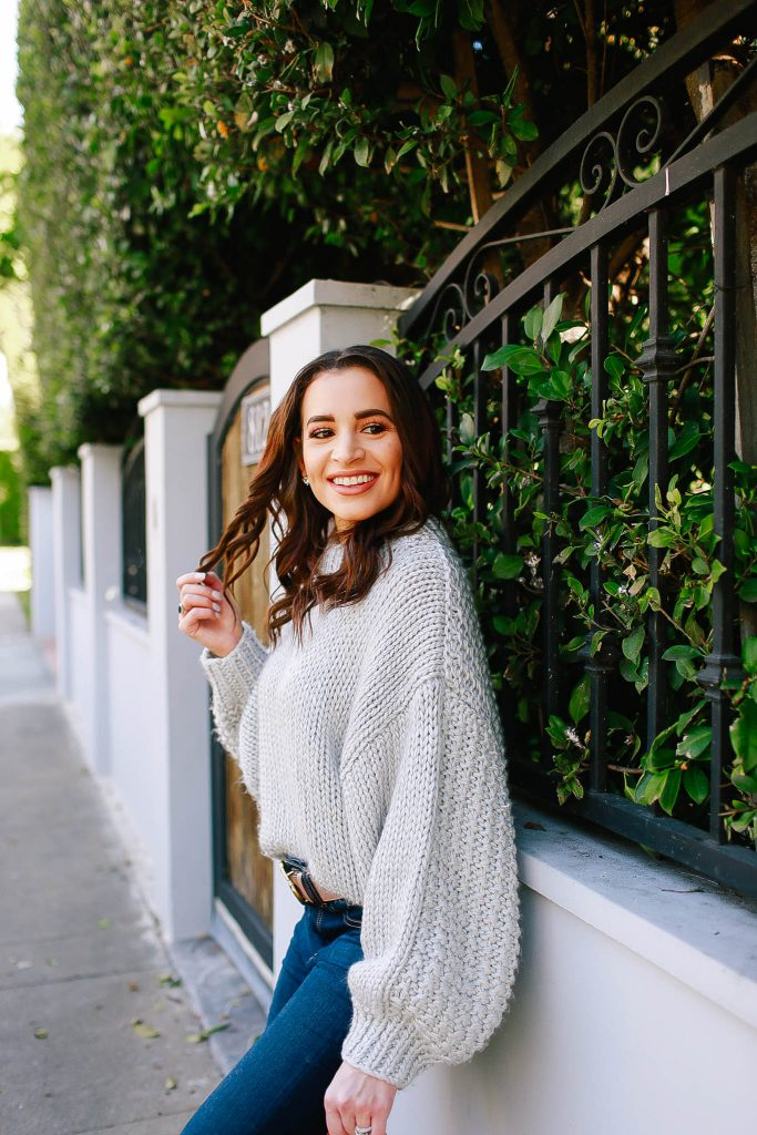 winter to spring sweater
